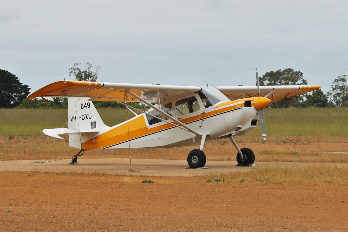 VH-DXU / SPOTTER 649 American Champion 8GCBC Scout (MSN 520-2009) of the WA Department of Parks and Wildlife (DPaW), at Esperance Airport - 20 October 2015. Used as fire spotter aircraft for forest patrols and for supervising waterbombing operations in the south-west of WA. Photo © Jonathan Williams