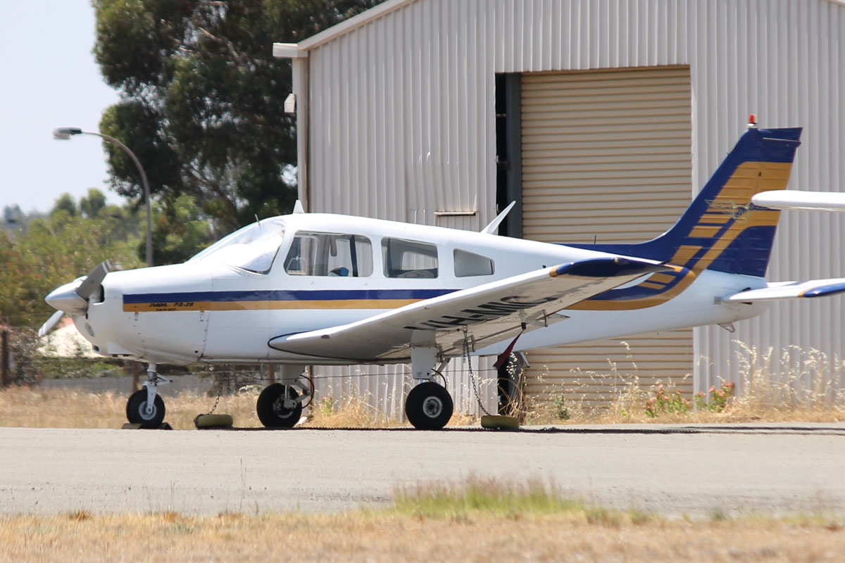 VH-MIC Piper PA-28-151 Cherokee Warrior (MSN 28-7615414) owned by Goldfields Air Services (GAS) (Texrio Pty Ltd) at Kalgoorlie Airport - 22 October 2015. Built in 1976, based at Kalgoorlie. Photo © Jonathan Williams