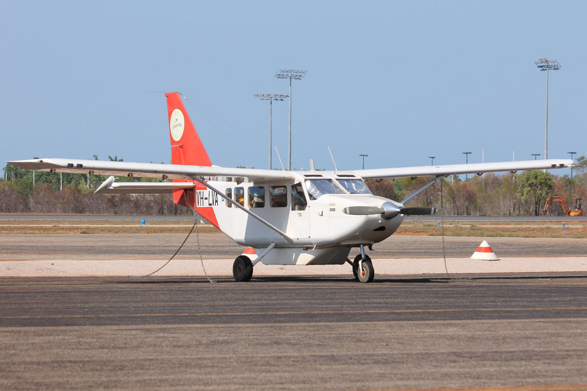 VH-LVA Gippsland GA8 Airvan (MSN GA8-05-079) operated by Kimberley Aviation (Andrew Grace), at Broome Airport - 25 October 2015. Built in 2005. Photo © David Eyre