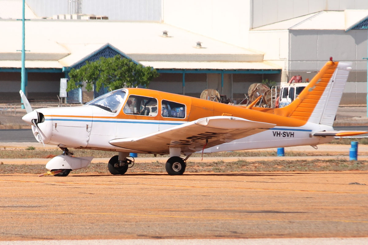 VH-SVH Piper PA-28-140 Cherokee Cruiser (MSN 28-7425007) owned by Russell B Jones, South Hedland, WA, at Broome Airport - 25 October 2015. Built in 1974. Photo © Jonathan Williams