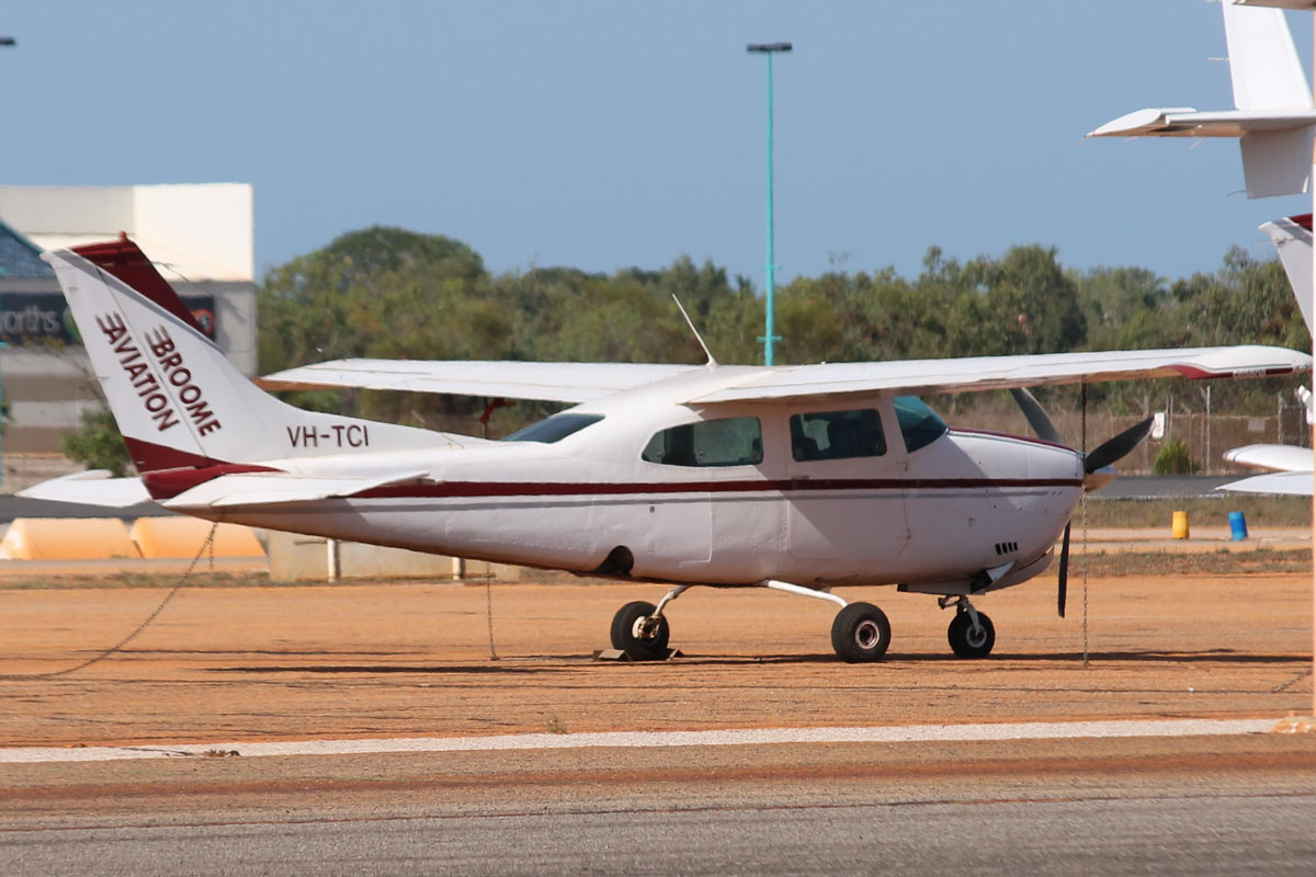 VH-TCI Cessna 210L Centurion (MSN 21060548) owned by Broome Aviation, at Broome Airport - 25 October 2015. Built in 1974, ex N94225. Photo © Jonathan Williams