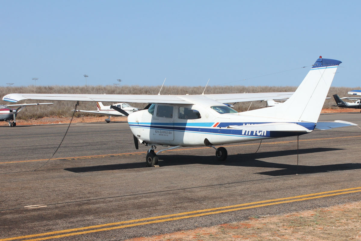 VH-TCR Cessna 210L Centurion (MSN 21061007) of King Leopold Air, at Broome Airport - 25 October 2015. Built in 1975. Photo © Jonathan Williams