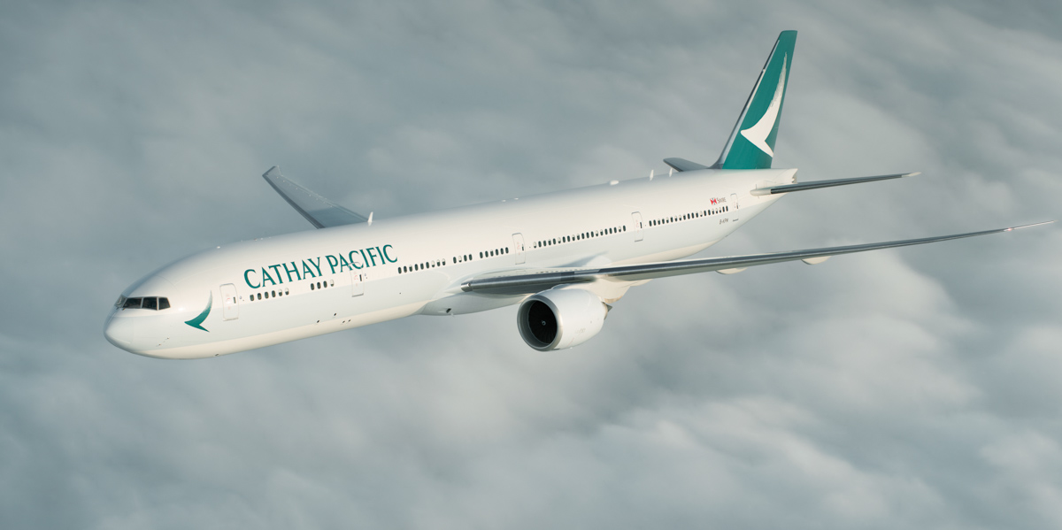 B-KPM Boeing 777-367ER (MSN 36159/835) of Cathay Pacific, in the new livery revealed on 1 November 2015. Photo © Cathay Pacific