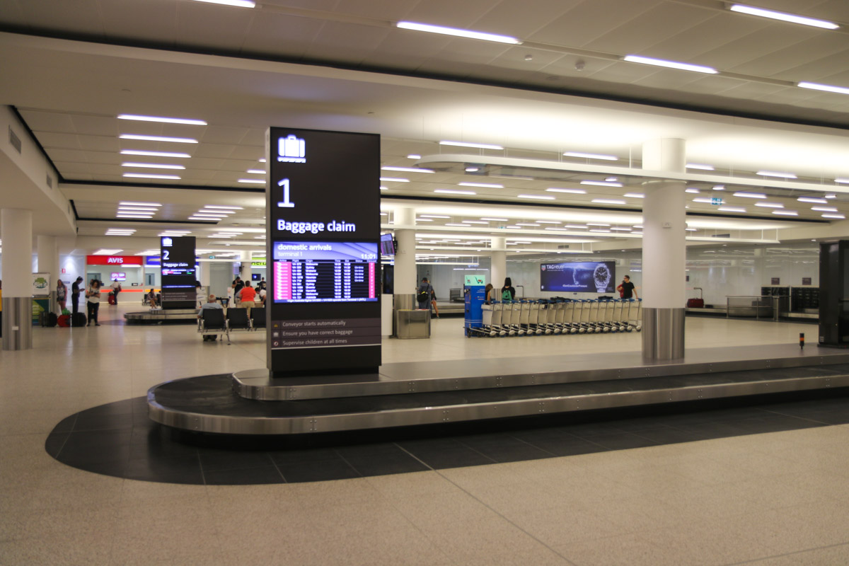 Terminal 1 Domestic on the first day of operations, Perth ...