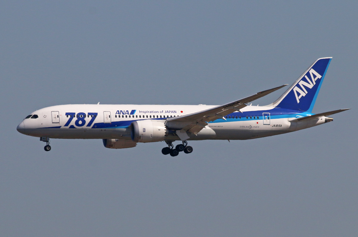 JA815A Boeing 787-8 Dreamliner (MSN 40899/66) of ANA, at Beijing - 2 October 2015. Photo © Steve Jaksic