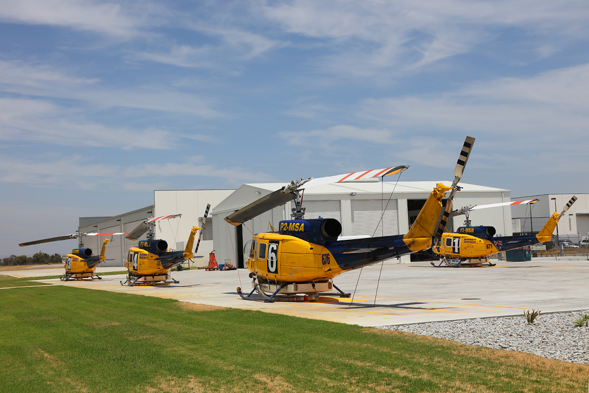 Four of McDermott Aviation's Bell 214 Helitak water bombers are now on line ready for the 2015/16 fire season.