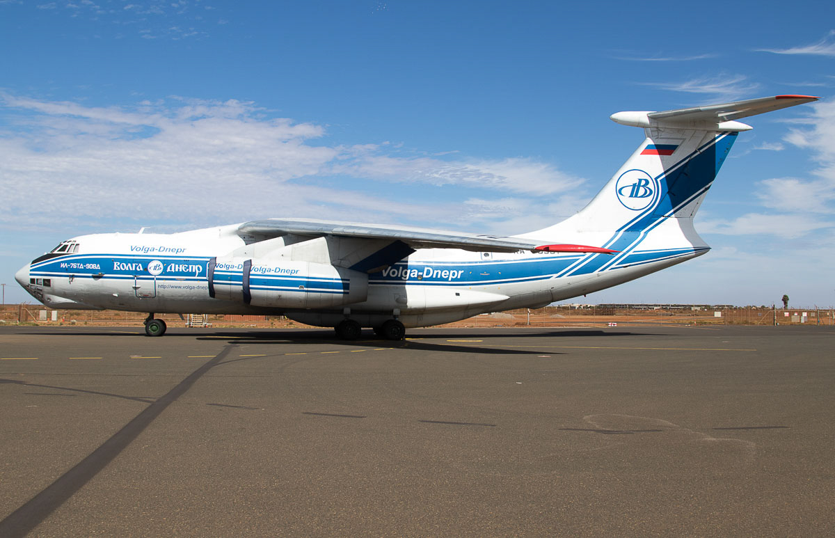 RA-76951 Ilyushin Il-76TD-90VD (MSN 2073421704 / 93-06) of Volga-Dnepr Airlines, at Port Hedland Airport - Wed 9 December 2015. Arrived from Johor Bahru, Malaysia on 6 December 2015 as flight VI4760. The aircraft made its first flight on 31 July 2007. Photo © Jim Woodrow