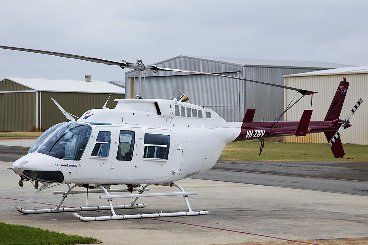 VH-ZWV Bell 206L-3 Long Ranger (MSN 51040) of Heliwest at Jandakot Airport – 10 Jan 2016.
