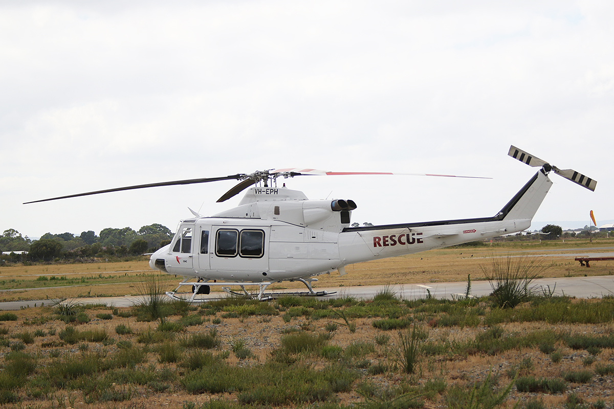VH-EPH Bell 412EP (MSN 36419) at Jandakot Airport – 11 Jan 2016.
