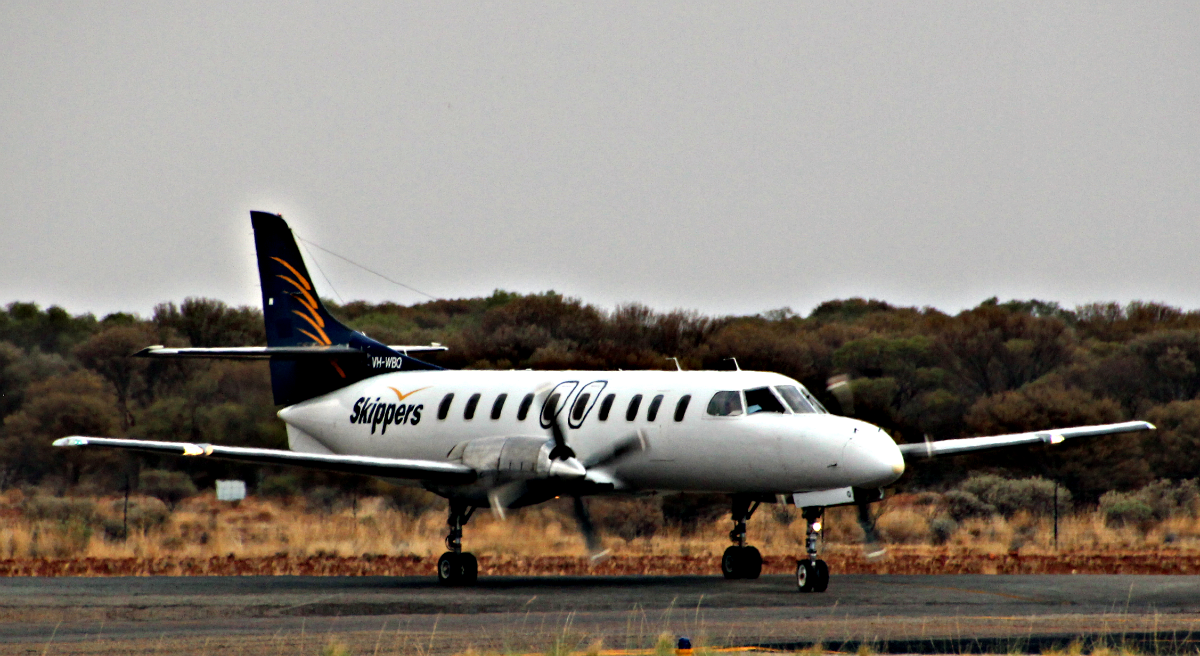 VH-WBQ Fairchild SA227-DC Metro (MSN DC-884B) of Skippers Aviation at Meekatharra Airport – 19 Jan 2016.