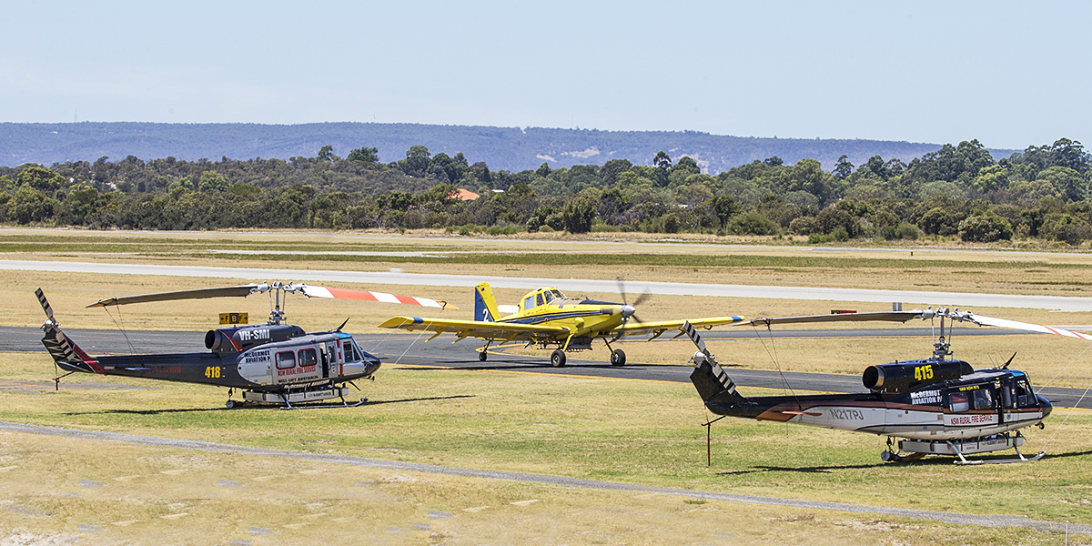 VH-EOG Air Tractor AT-802 (MSN 802-0185) of Dunn Aviation at Jandakot Airport – 22 Jan 2016.