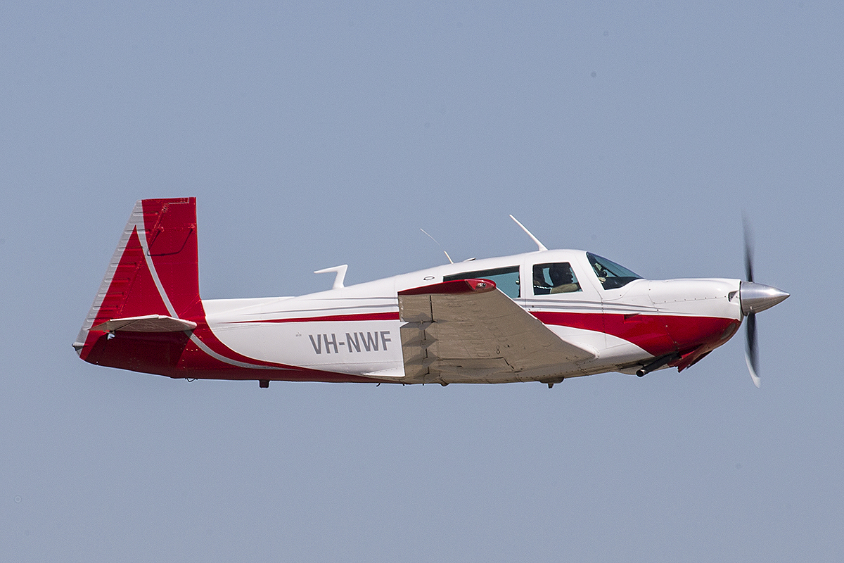 VH-NWF Mooney M20J (MSN 24-0587) of Mark Weller, Albany at Jandakot Airport – 22 Jan 2016.