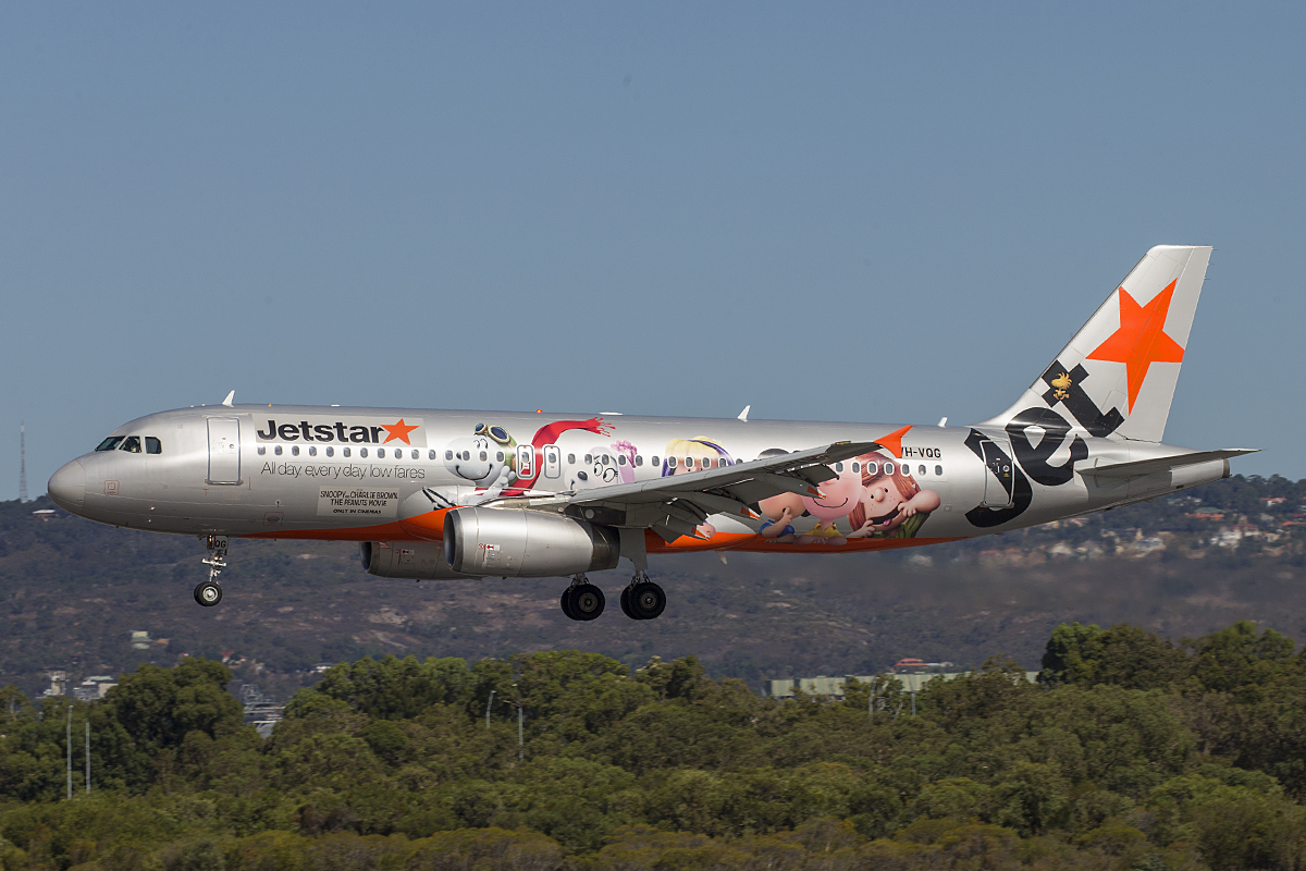 VH-VQG Airbus A320-232 (MSN 2787) of Jetstar at Perth Airport – 28 Jan 2016.