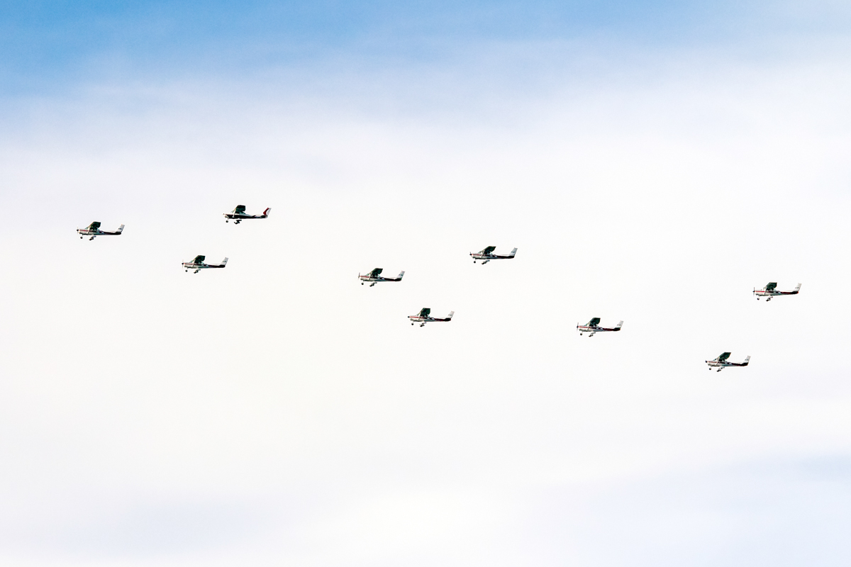 Cessna A152 Aerobats of the Royal Aero Club of Western Australia over the Swan River, Perth - Tue 26 January 2016 - Australia Day City of Perth Air Show 2016. Photo © Daniel Kitlar
