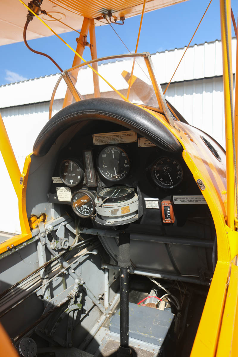 VH-BTP / A17-744 De Havilland DH-82A Tiger Moth (MSN DHA1075/T315) owned by Clark Rees, at Jandakot Airport - Tue 26 January 2016 - Australia Day Air Show. Front cockpit. Photo © David Eyre