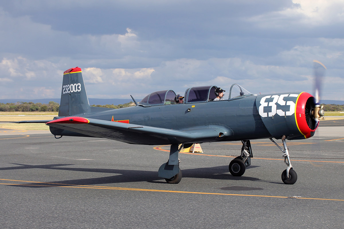 VH-MAN / 232003 / 85 Nanchang CJ-6A (MSN 232003) piloted by Chris Robinson, owned by S & K Investments Pty Ltd at Jandakot Airport - 26 January 2016.