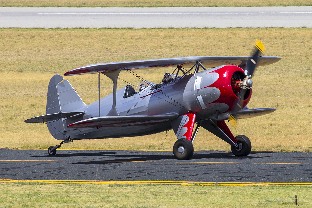 VH-ZUZ Culp Special (MSN CS-1947) owned and piloted by Peter Cashman taxies in ready to take part in the Australia Day City of Perth Air Show.