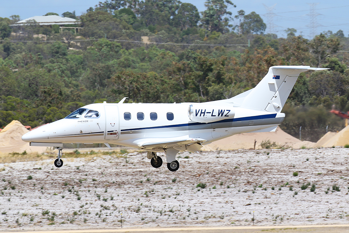 VH-LWZ Embraer 500 Phenom 100 (MSN 50000306) of China Southern WA Flying College (operated by Revesco Aviation), at Jandakot Airport – 19 Feb 2016.
