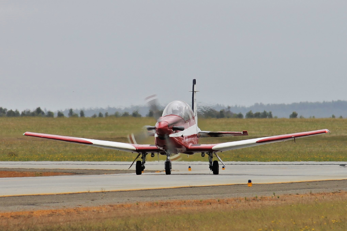 A23-044 Pilatus PC-9/A (MSN 544) of 2 FTS, RAAF, at Albany Airport - Thu 3 March 2016. A detachment of up to nine PC-9/As from Number 2 Flying Training School (2FTS) and one RAAF Rescue helicopter (Bell 412EP VH-EPH) deployed from RAAF Base Pearce to conduct flight training from Albany Regional Airport from 21 February to 4 March 2016. 2FTS deploys to Albany once or twice a year to conduct the formation training phase of the Advanced Pilots' Course. Photo © Jonathan Williams