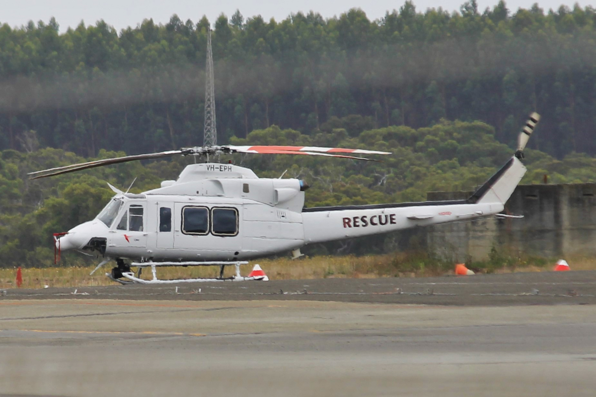 VH-EPH Bell 412EP (MSN 36419) of CHC Helicopters (RAAF Rescue), at Albany Airport - Thu 3 March 2016. This helicopter deployed to provide rescue support for a detachment of up to nine PC-9/As from Number 2 Flying Training School (2FTS) deployed from RAAF Base Pearce to conduct flight training from Albany Regional Airport from 21 February to 4 March 2016. 2FTS deploys to Albany once or twice a year to conduct the formation training phase of the Advanced Pilots' Course. Photo © Jonathan Williams