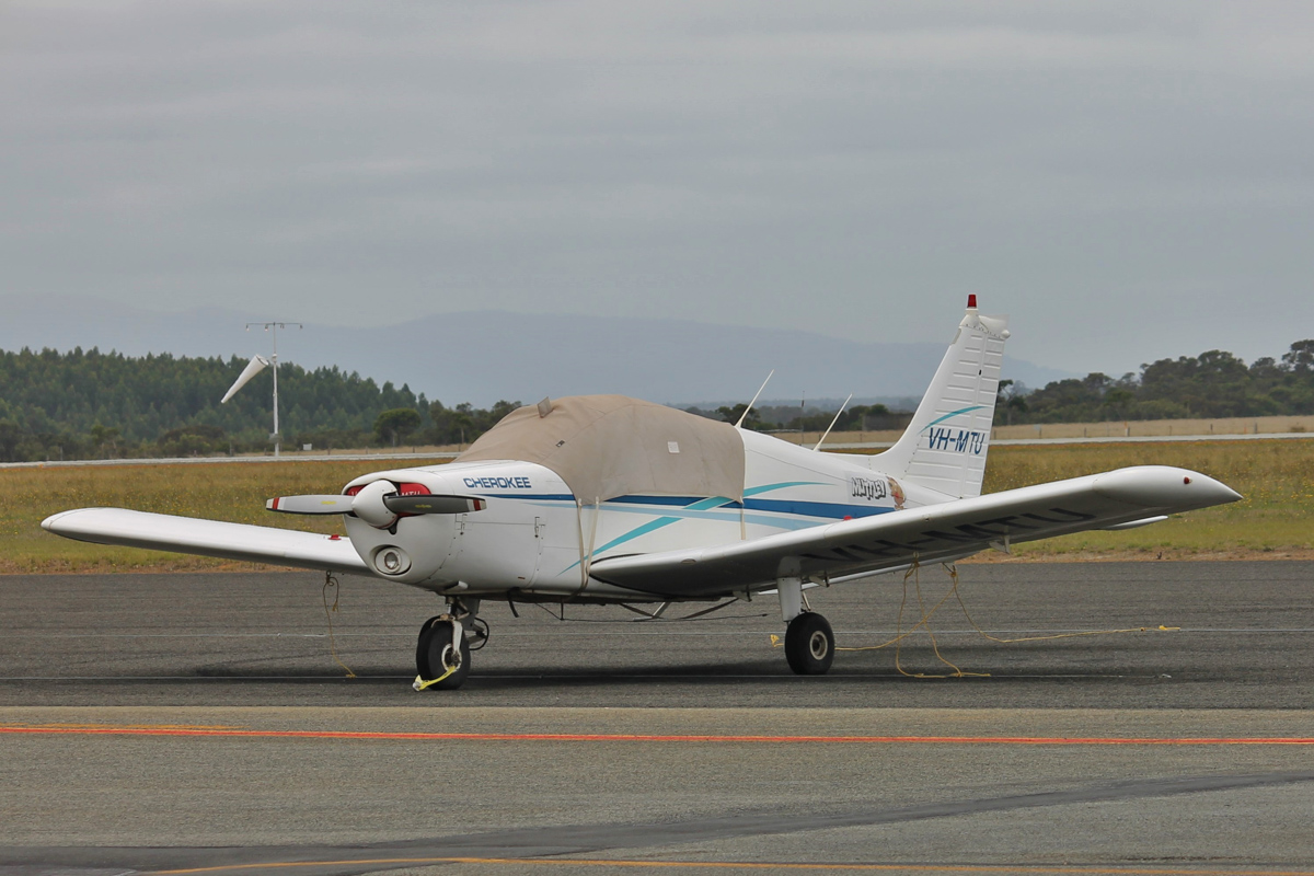 VH-MTU Piper PA-28-140 Cherokee Cruiser (MSN 28-7725128) named 'Muttley', owned by David Campbell Transport Pty Ltd, of Jerramungup, WA, at Albany Airport - Thu 3 March 2016. Photo © Jonathan Williams