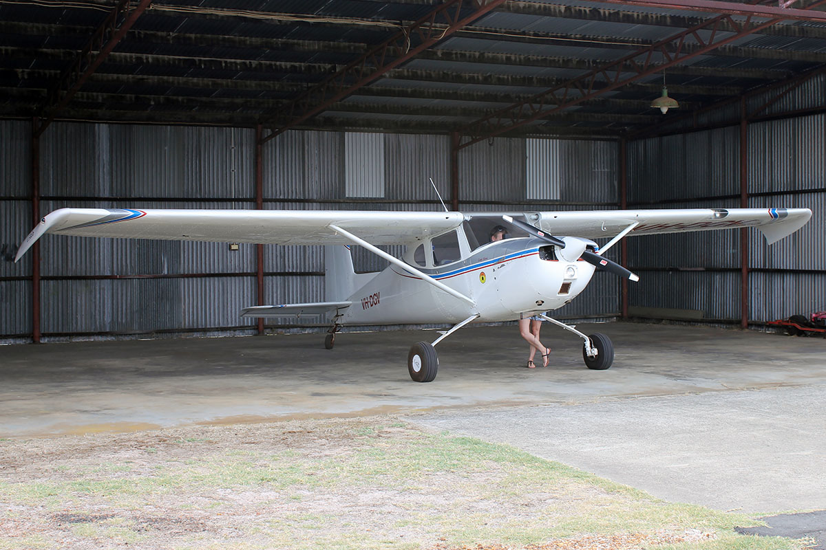 VH-DGV Cessna 150 (MSN 17232) owned by Outback Aviation Logistics PTY. LTD., at Bunbury Airport – 5 March 2016