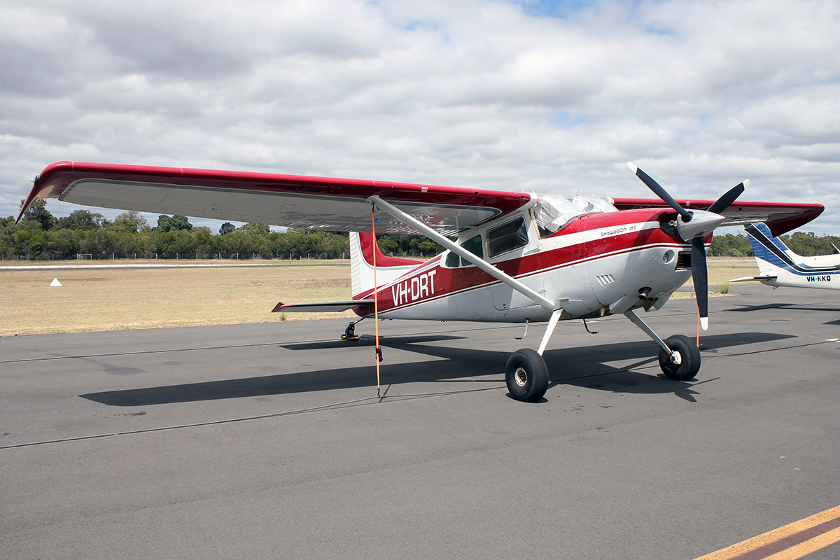 VH-DRT Cessna A185F (C185) (MSN 18502979) owned by Dunn Aviation PTY. LTD., at Bunbury Airport – 5 March 2016