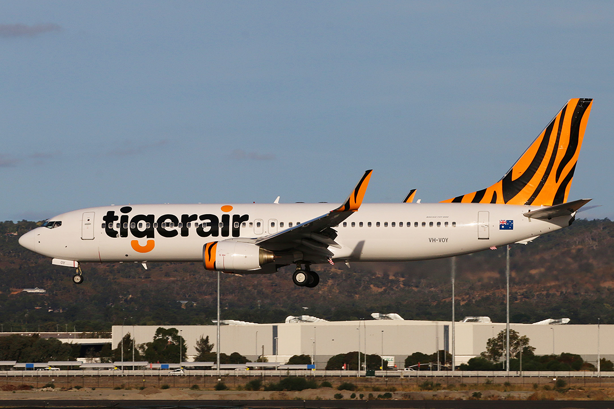 VH-VOY Boeing 737-8FE (MSN 33996) of Tigerair Australia, at Perth Airport – 24 March 2016.