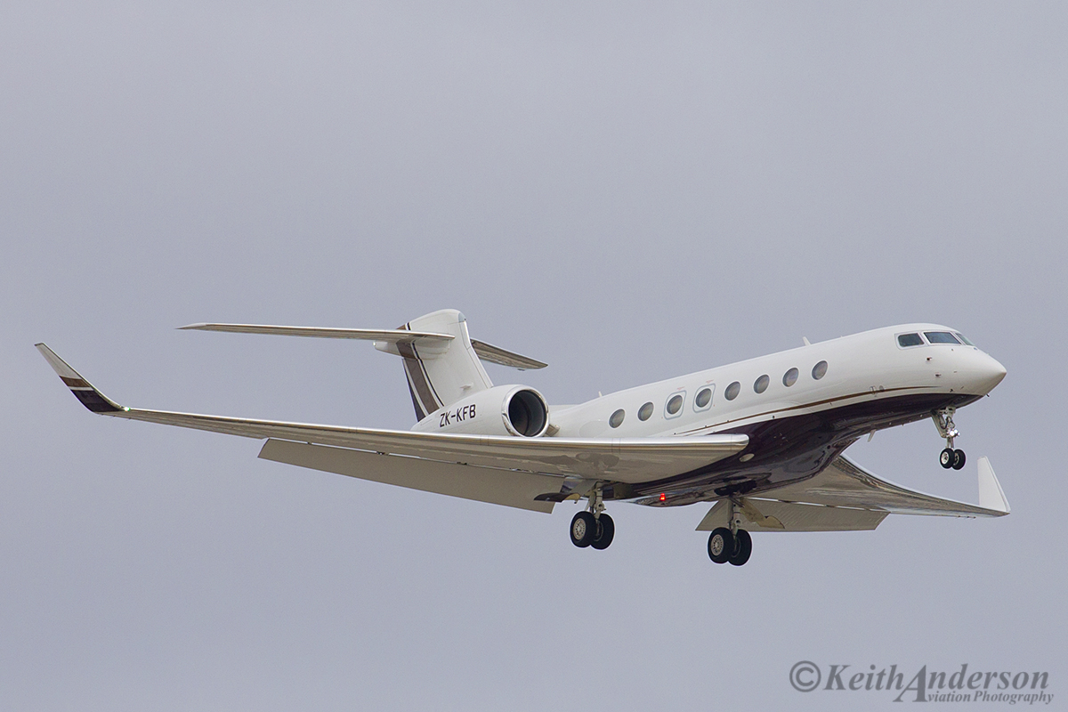 ZK-KFB Gulfstream Aerospace G-650 (MSN 6043) of Execujet New Zealand Ltd, at Perth Airport – 12 April 2016.