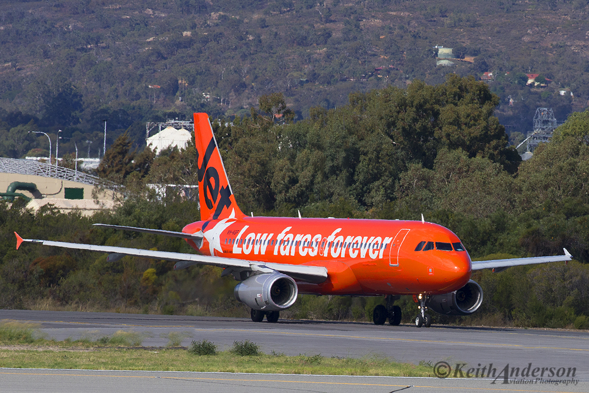 VH-VGF Airbus A320-232 (MSN 4497) of Jetstar at Perth Airport – 23 April 2016..
