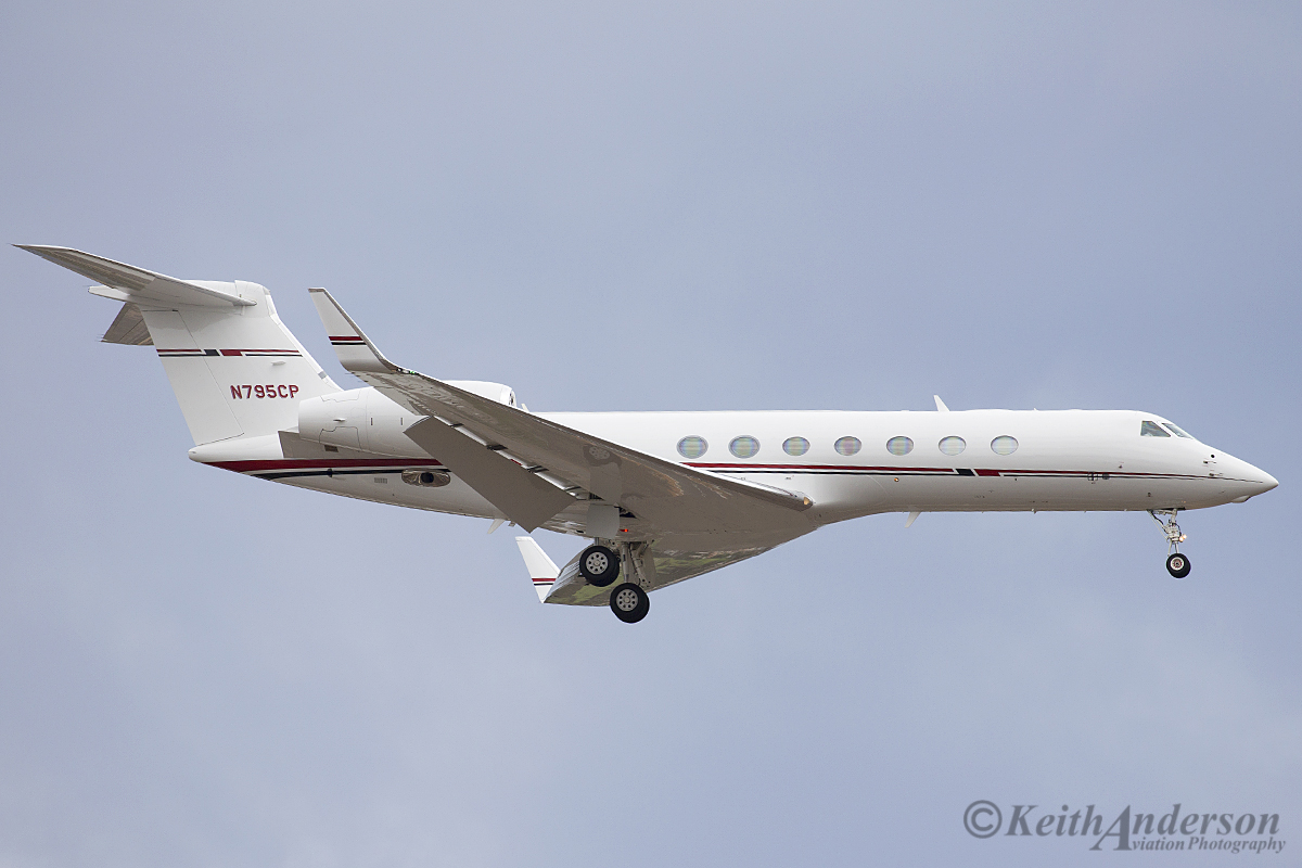 N795CP Gulfstream G550 (MSN 5474) of Conoco Phillips at Perth Airport – 11 April 2016.