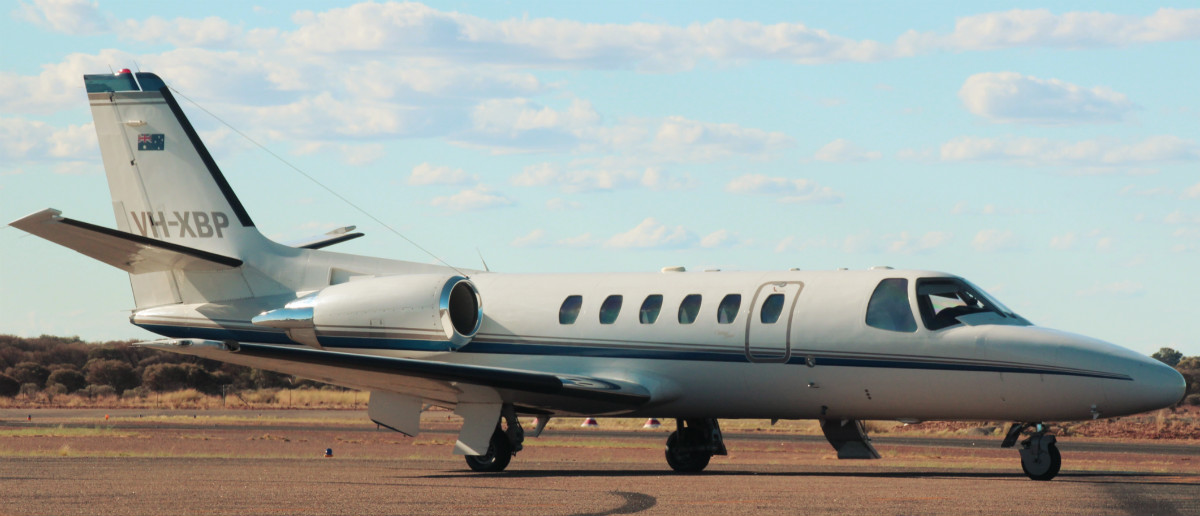 VH-XBP Cessna 550 Citation Bravo (cn 550-0810) of Maxem Aviation (leased from FMR Investments Pty Ltd) at Perth Airport – 31 March 2016.