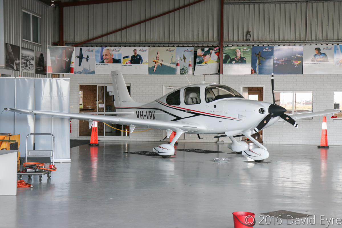 VH-VPK Cirrus SR20A-G3 (MSN 2308) owned by Arlington Group Pty Ltd, at Jandakot Airport – Mon 2 May 2016. Built in 2016 and registered on 11 April 2016, ex N308JS. Photo © David Eyre
