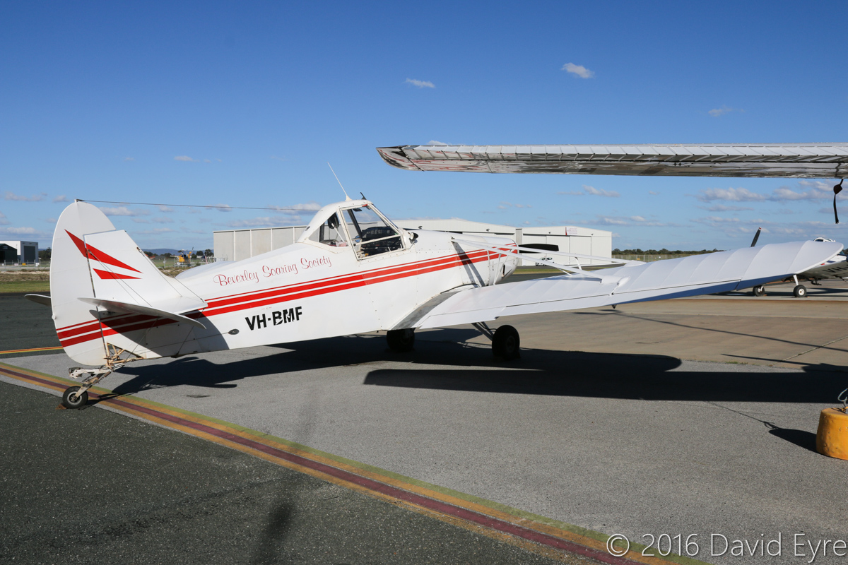 VH-BMF Piper PA-25-235 Pawnee B (MSN 25-3003) owned by Beverley Soaring Society, Beverley, WA, at Jandakot Airport - Fri 27 May 2016. Used as a glider tug. Built in 1964, ex N7156Z. Photo © David Eyre