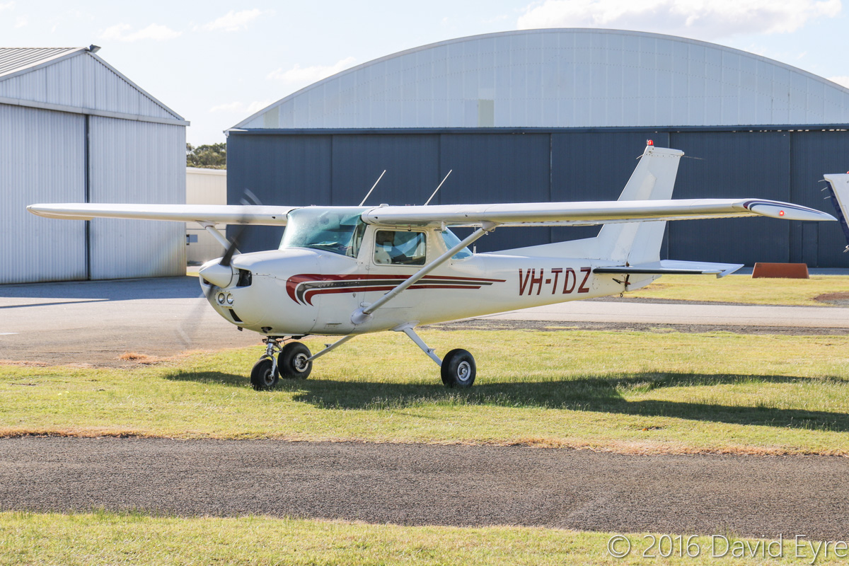 VH-TDZ Cessna 150M (MSN 15075794, ex N1620C) owned by Norwest Air Work (Eric Roulston), of Exmouth, WA, at Jandakot Airport – Fri 27 May 2016. Photo © David Eyre