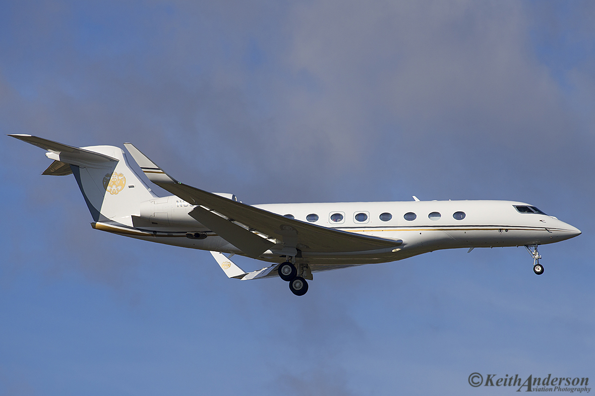 N650FJ Gulfstream Aerospace GVI (G650ER) (MSN 6175) owned by TVPX ARS INC TRUSTEE at Perth airport – 16 June 2016.