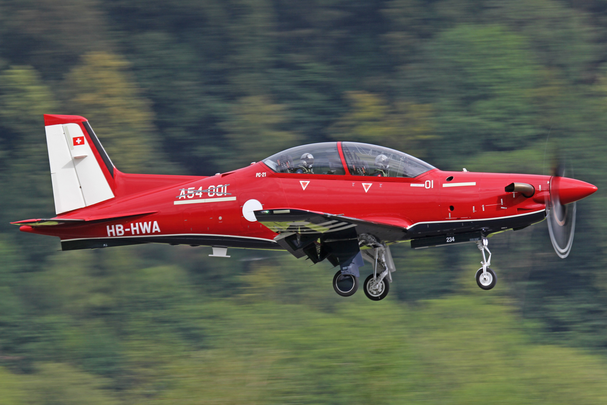 A54-001 / HB-HWA Pilatus PC-21 (MSN 234) of the Royal Australian Air Force, at Stans, Switzerland - Thu 21 July 2016. First flight. Photo © Pilatus Aircraft