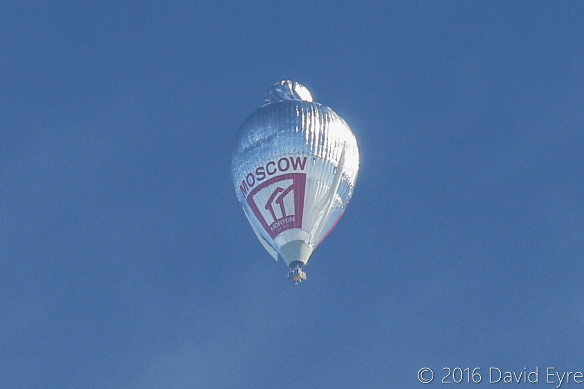 RA-2900G Cameron O-550 hot air balloon flown by Fedor Konyukhov, over Perth - Sat 23 July 2016. Passing north east along the Swan River towards Perth city at 11:44am, as he breaks the record for a solo circumnavigation of the world. He landed near Bonnie Rock at 4:30pm, after waiting for the winds to drop. Photo © David Eyre