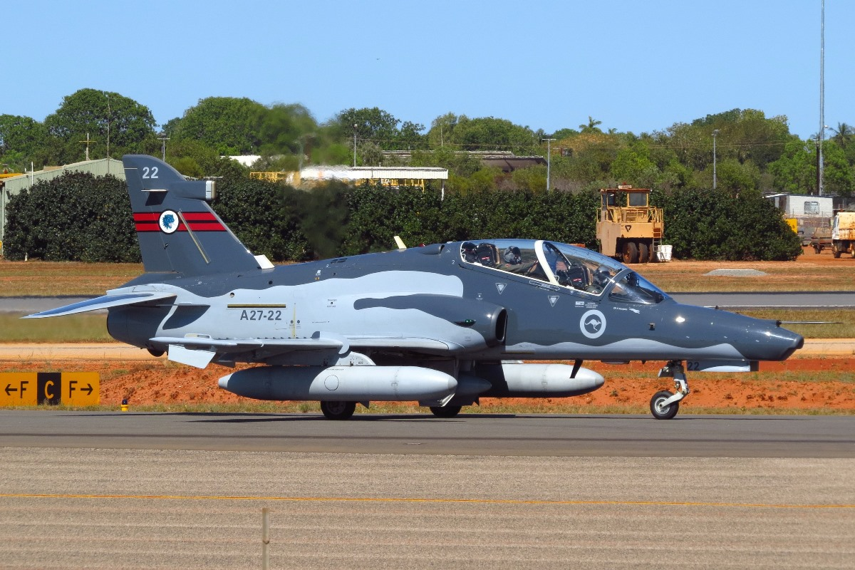 A27-22 BAE Systems Hawk 127 (MSN DT22) of 79 Squadron, RAAF at Broome Airport – 10 August 2016.