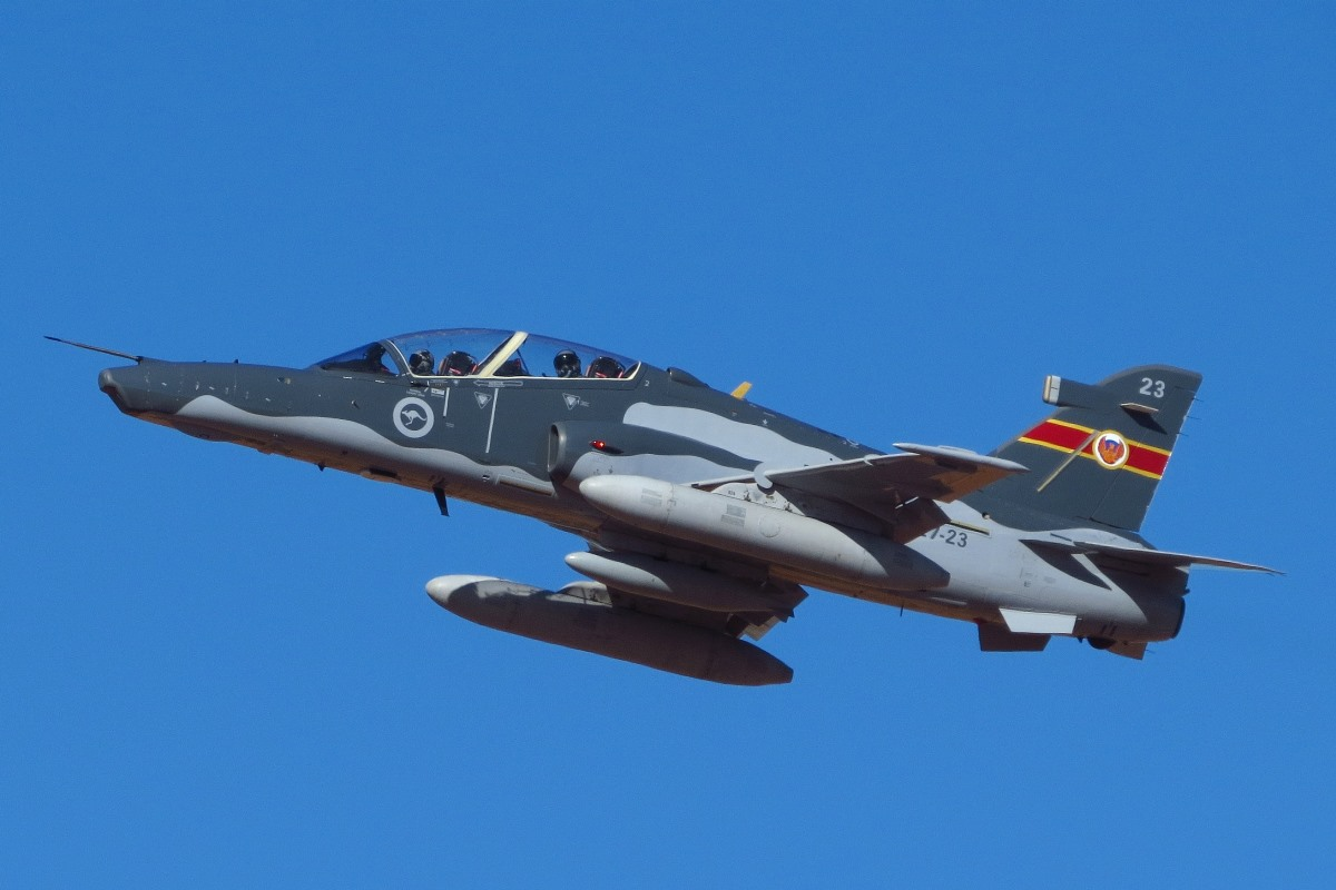 A27-23 BAE Systems Hawk 127 (MSN DT23) of 79 Squadron, RAAF at Broome Airport – 10 August 2016.