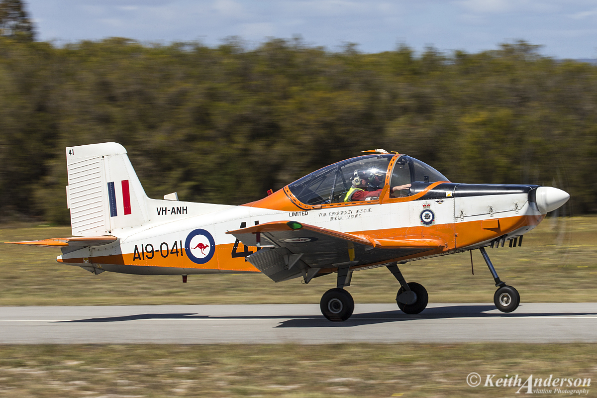 VH-ANH/A19-041 NZAI CT-4A Airtrainer (MSN 041) owned by David Gard , at SABC Annual Fly In, Serpentine Airfield – Sun 25 September 2016.