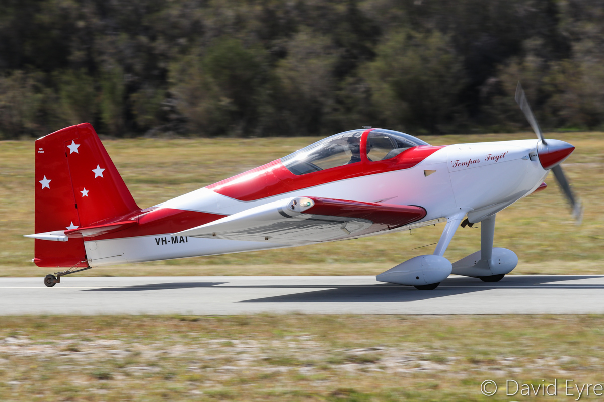 VH-MAI Vans RV-7 (MSN 73184) named 'Tempus Fugit' (Latin for 'Time Flies'), owned by Robert Main of Boyanup, WA, at SABC Annual Fly-In, Serpentine Airfield - Sun 25 September 2016. Photo © David Eyre
