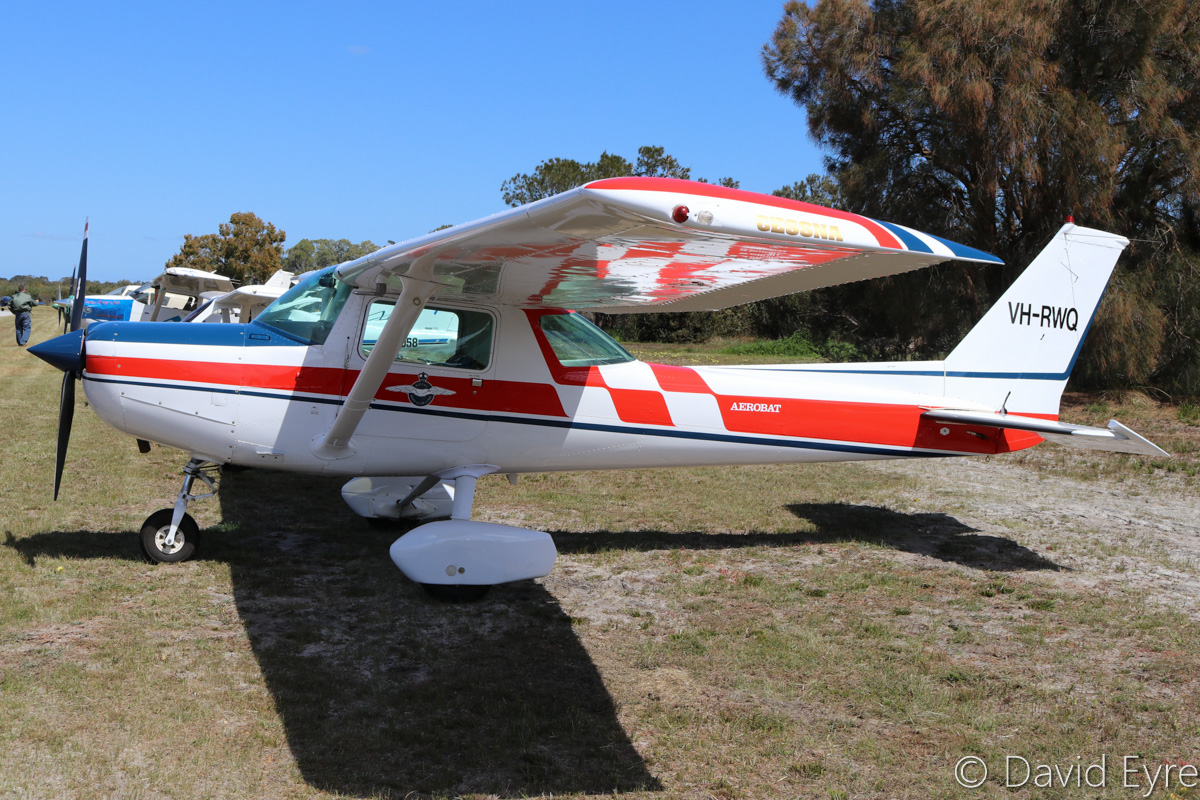 VH-RWQ Cessna A152 Aerobat (MSN A1520896) owned by the Royal Aero Club of Western Australia Inc, at SABC Annual Fly-In, Serpentine Airfield – Sun 25 September 2016. Built in 1980, ex N4807A. Photo © David Eyre