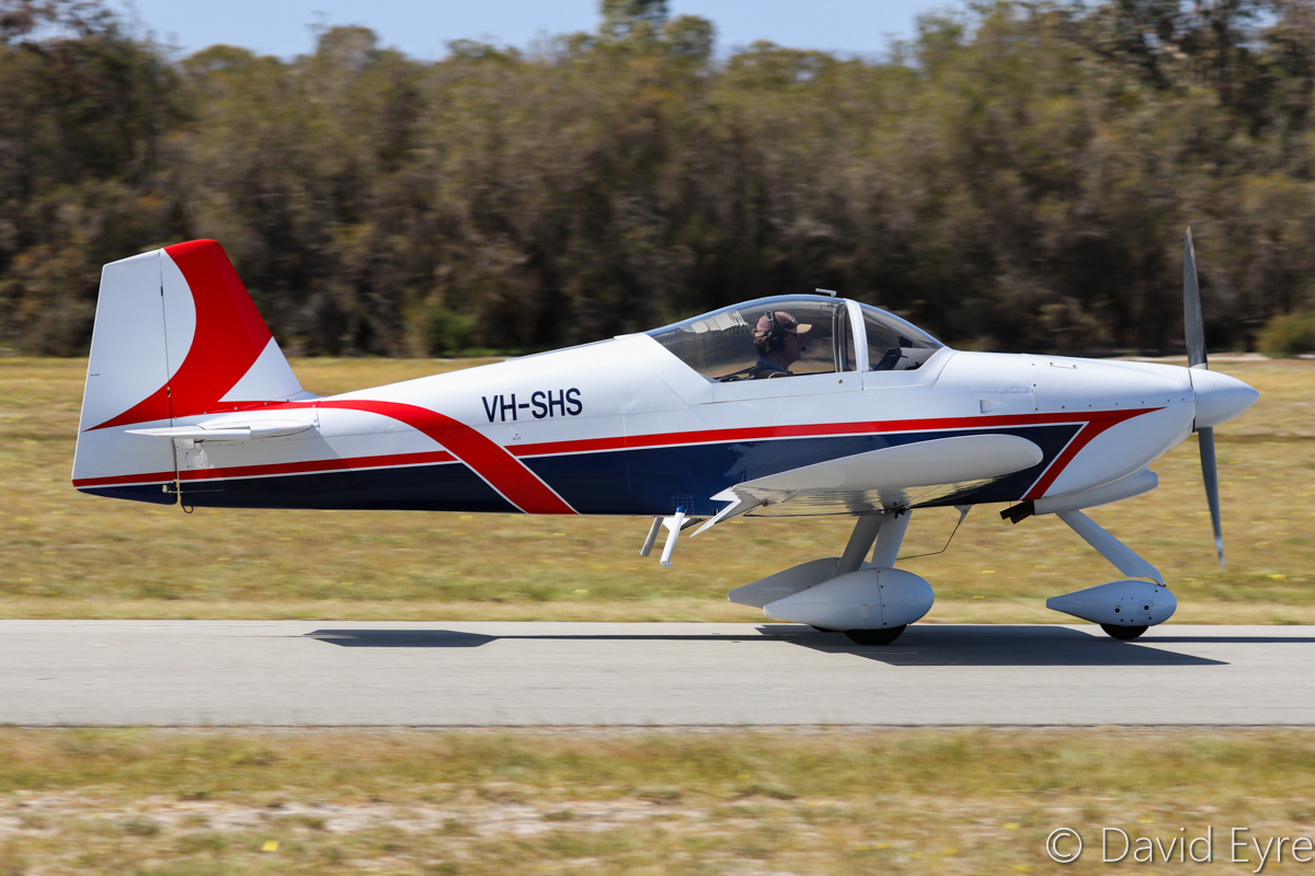VH-SHS Vans RV-6A (MSN W255) owned by Gray Marshall, at SABC Annual Fly In, Serpentine Airfield – Sun 25 September 2016. Built in 2003 by aviation students at Kent Street Senior High School (hence the SHS registration). Photo © David Eyre