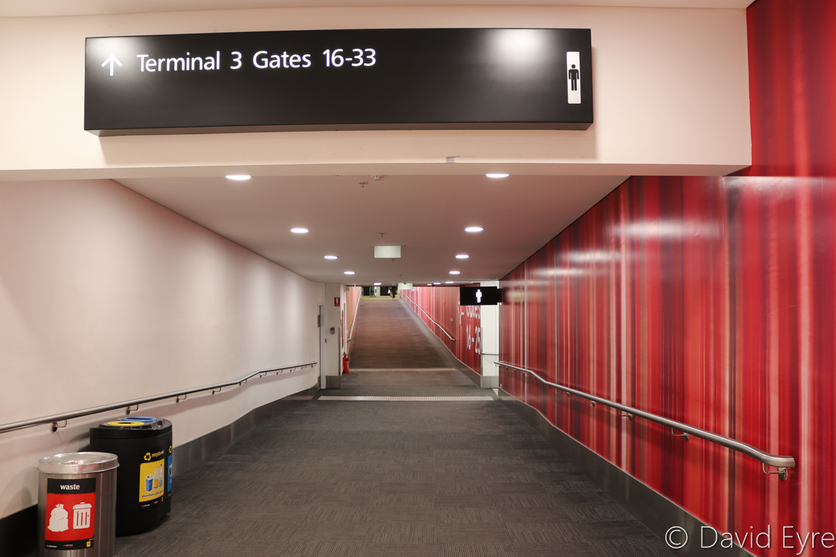 Passage to Terminal 3 from Terminal 4 Departure Lounge, Perth Airport - Fri 28 October 2016. Photo © David Eyre