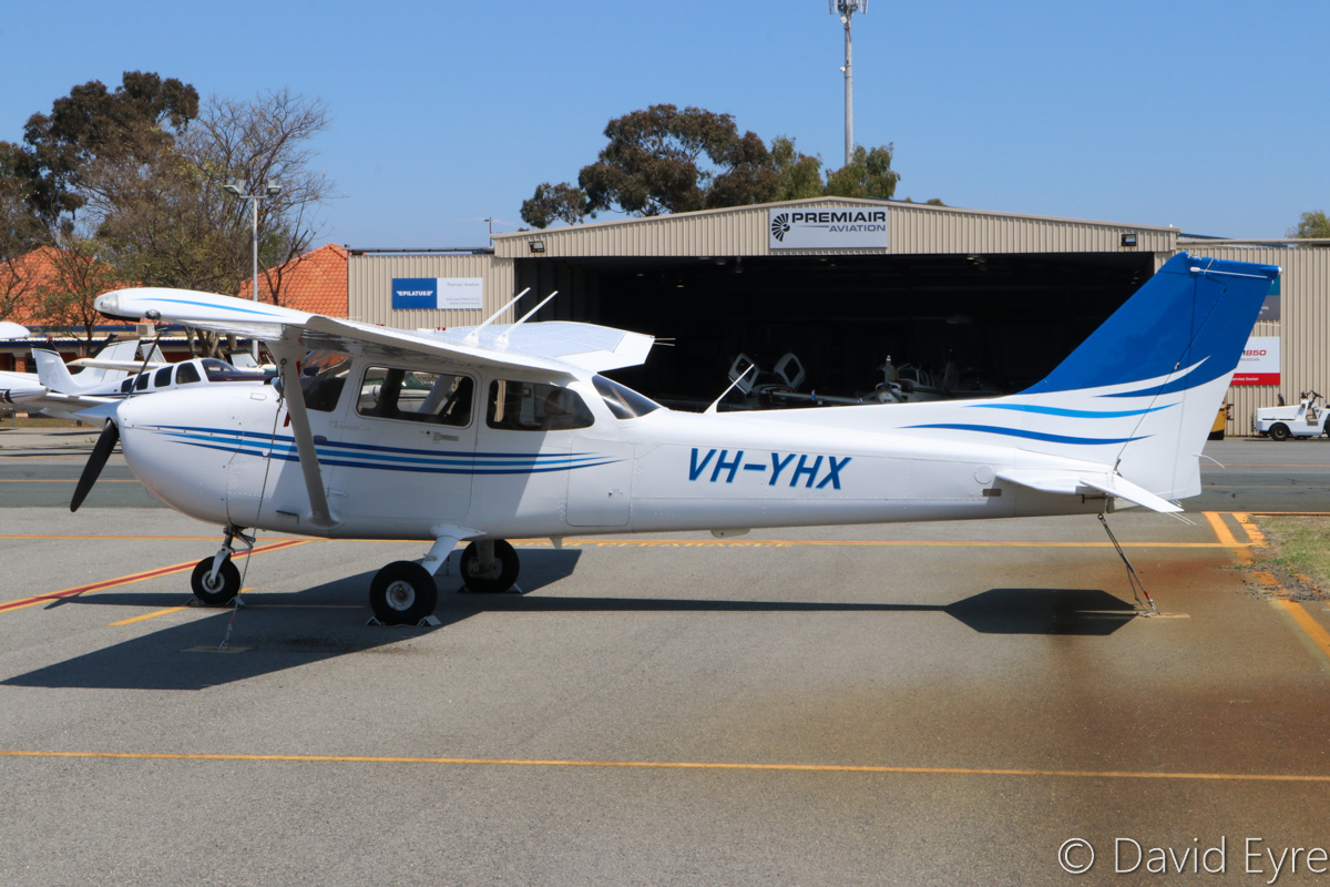 VH-YHX Cessna 172S Skyhawk SP (MSN 172S10866) owned by Airflite Pty Ltd, being cross-hired by Singapore Flying College, at Jandakot Airport - Fri 28 October 2016. Formerly owned by Gulf Golden International Flying College (GGIFA) of Bintulu, Malaysia. Built in 2008, ex 9M-GIF, N63478. Photo © David Eyre