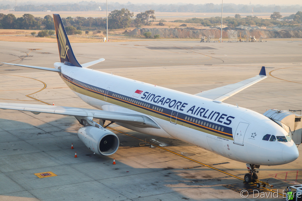 9V-STD Airbus A330-343X (MSN 997) of Singapore Airlines, at Perth Airport - Thu 3 November 2016. Flight SQ224 to Singapore, parked at Bay 154 at 6:19am, preparing for departure. Photo © David Eyre