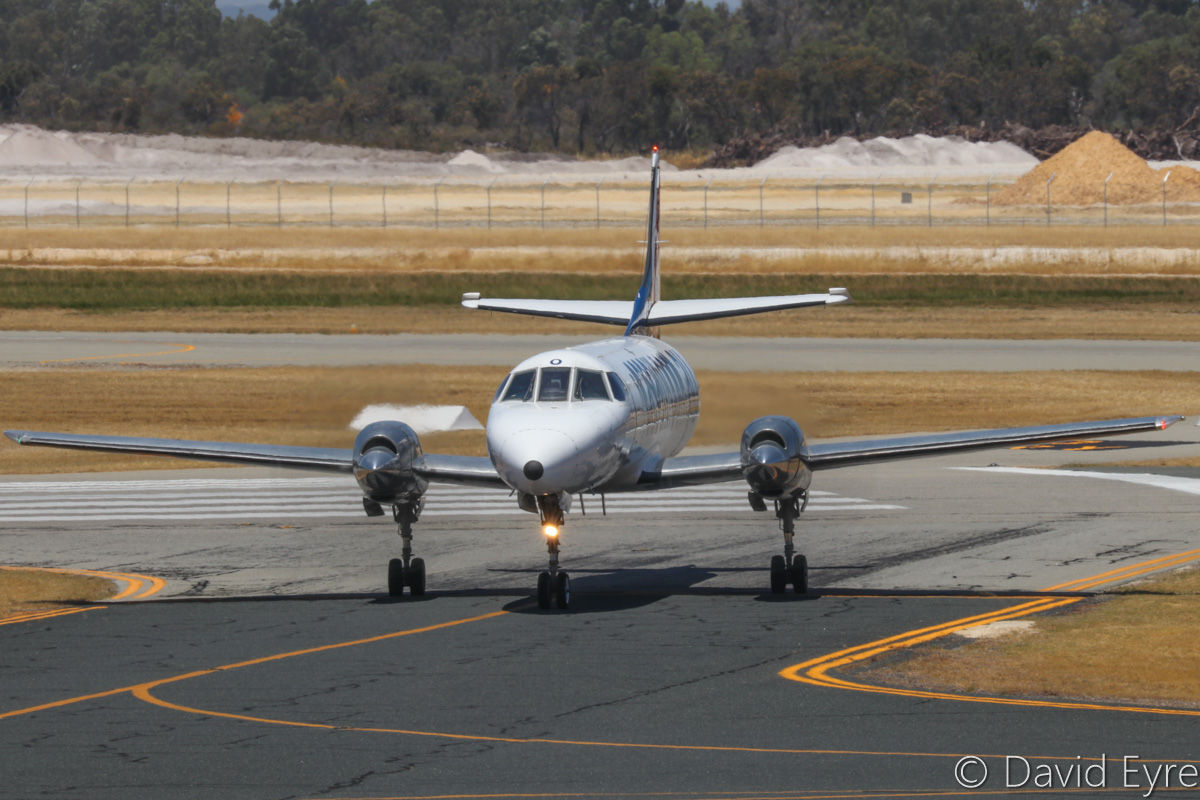 VH-OGX Swearingen SA226-TC Metro II (MSN TC-395) of Casair, at Jandakot Airport - Sat 10 December 2016. Arrived on runway 30 from Port Hedland at 12:07pm. Photo © David Eyre