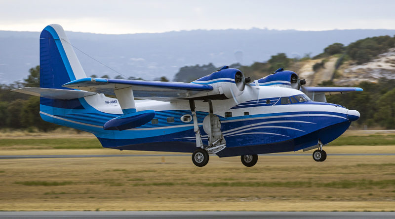 VH-NMO Grumman G-111 Albatross (MSN G-464) of Catalina Airlines Pty Ltd, at Jandakot Airport – 22 Decenber 2016.