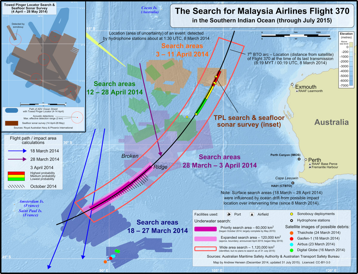 The Search for Malaysia Airlines Flight 370 (March 2014 to July